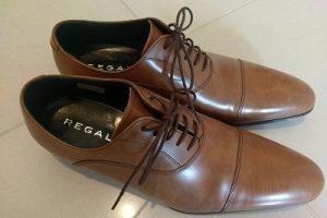 リーガル ストレートチップの革靴